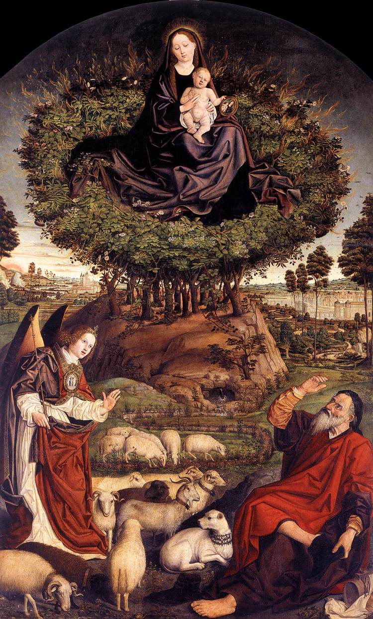 Moses and the Burning Bush, Nicolas Froment (1476)