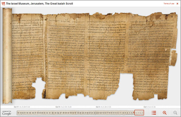 The Great Isaiah Scroll from the Dead Sea Scrolls