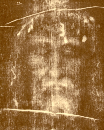 Image of a face from the Shroud of Turin