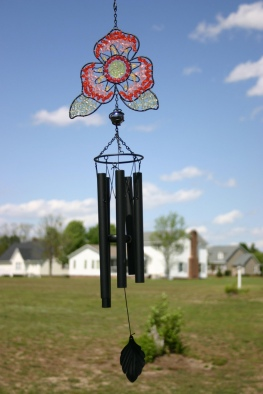 A wind chime and sun catcher in North Carolina