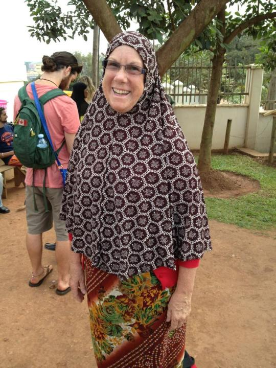 Dressed for the Mosque in Kampala
