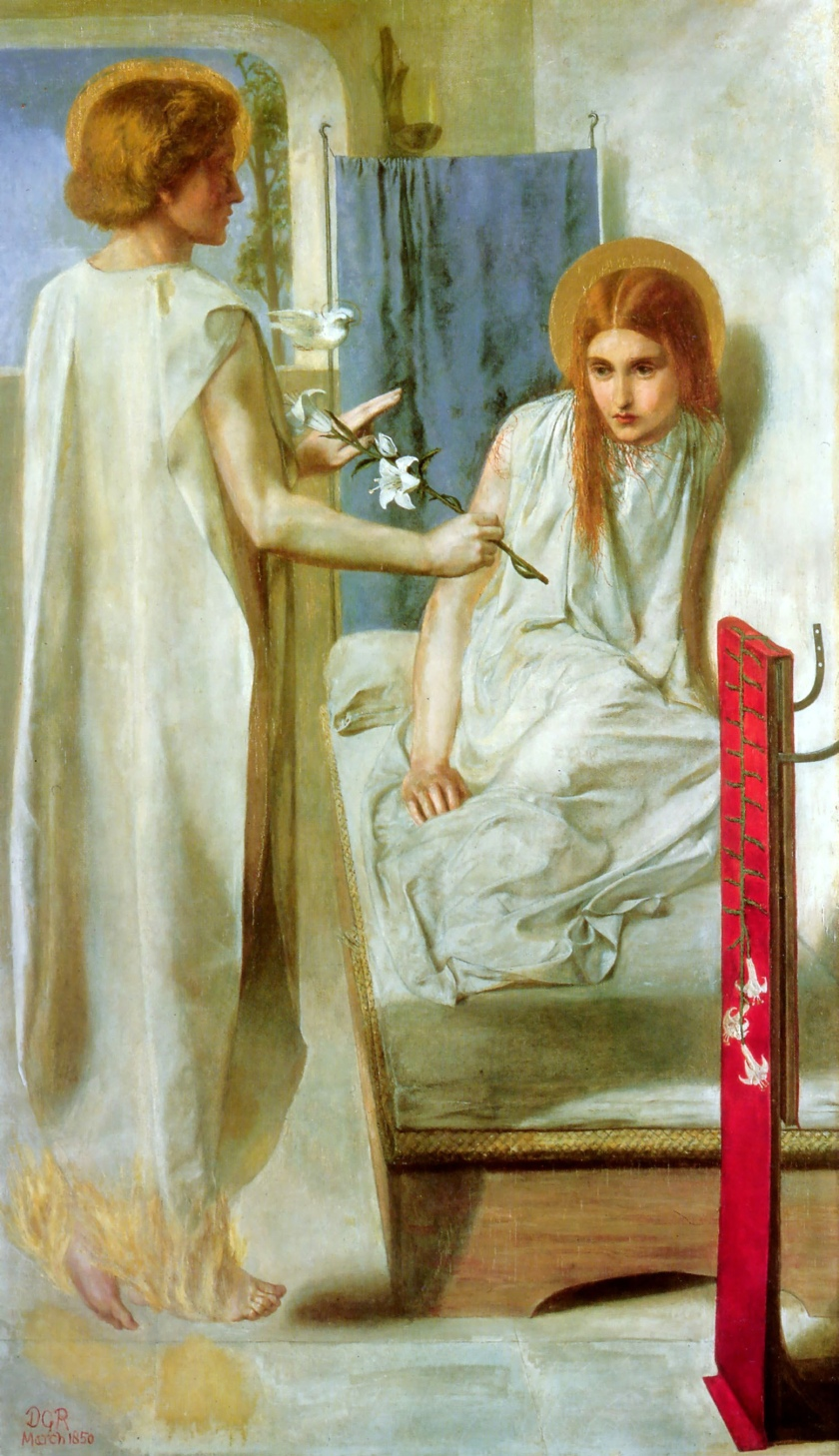 The Annunciation by Rossetti