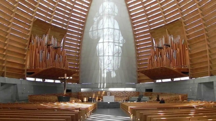 Interior view. Christ the Light Cathedral. Oakland, CA